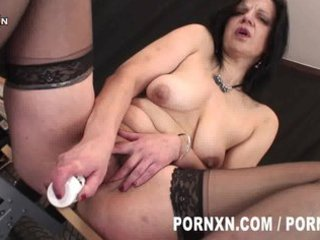 perverted aged lady wears nylons and t live