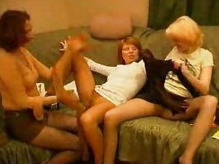 Horny milfs pet,lick and kiss their fleshy holes.