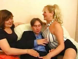 Two russian bbw matures one guy