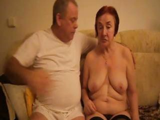 lustful old redheaded granny sucks her hubbys