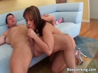 Mom with huge boobs gets her shaved part1