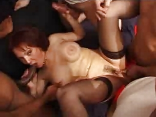 french aged gangbang