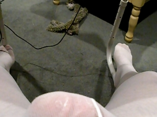 jerking off in my allies wifes tights!