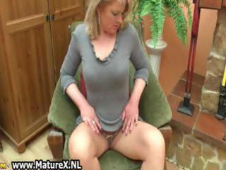 golden-haired aged housewife with big part6