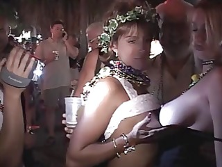 Older women gets butt naked at Mardi Gras
