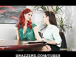 dom redhead lesbo convinces her coworker to