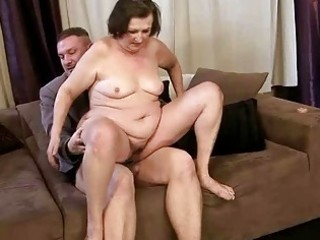 ugly granny getting drilled pretty hard