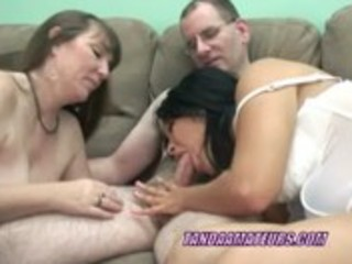 older brooke sharing a jock with a latin chick
