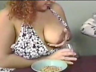 fresh milk for the breakfast older aged porn
