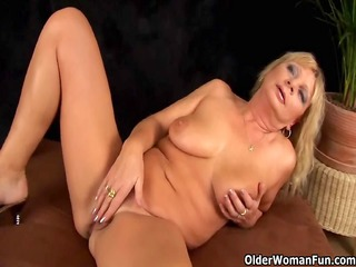 breasty grandma squirts her pussy juice as that