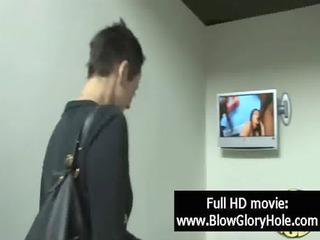 gloryhole - sexy breasty babes love sucking