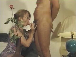 french milf sucks his dick and gets fucked on a