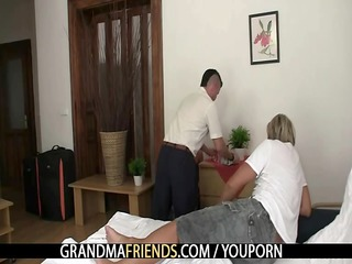 old pair lure him into threesome