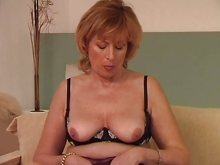 granny uses a dildo