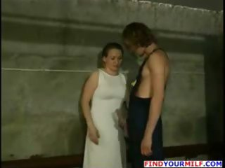 Hot russian milf get her face jizzed