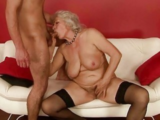 sexually excited lad fucking breasty grandma