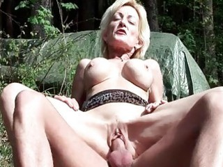 breasty golden-haired granny acquires fucked by a