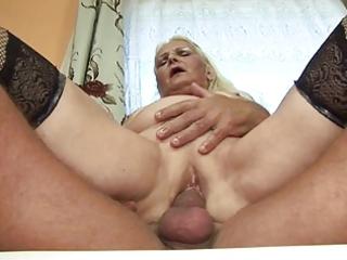 fat blonde granny (german)