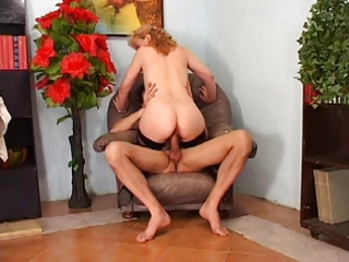 aged frenchie with large bush anal drilled by the