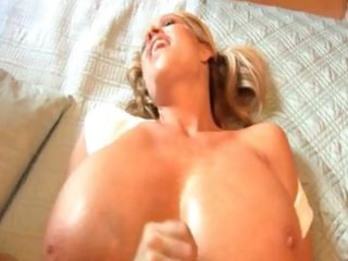 older golden-haired has huge titties and a hunger