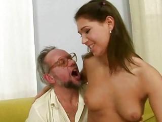 grandad enjoying wicked sex with hawt legal age