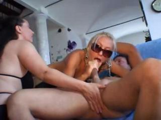 busty aged italians take turns banging cock and