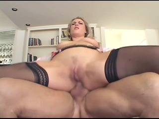 blonde has perverted anal sex in haunch high