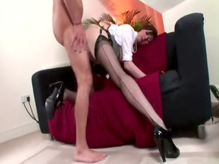 excited nylons non-professional acquires a jizz