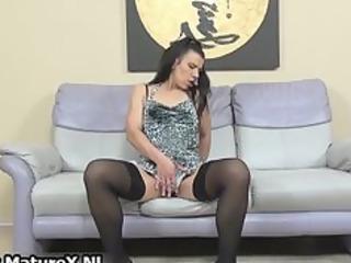lewd older lady in dark nylons part11