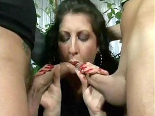 scandalous alessia roma gets a dp and can every