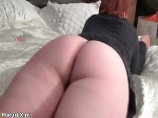 older redhead housewive acquires horny