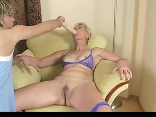 blonde aged testing sex tool and real wang by troc
