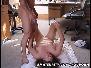 fat dilettante wife drilled on the floor