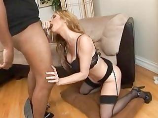 white mother i in hot lingerie sucking darksome