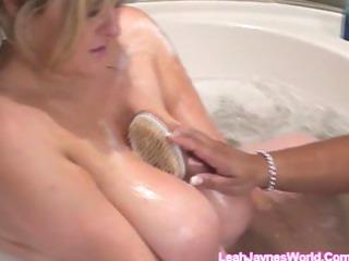 bathtub breasty gals
