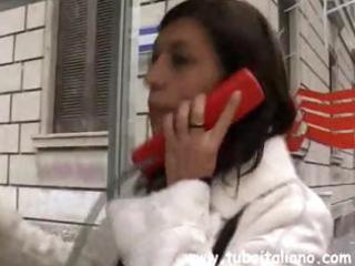 youthful italian brunette hair wife calls to meet