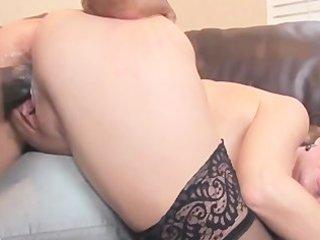 Mature sara james goes down on black cock