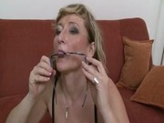 sexy granny drilled by large hard black cock