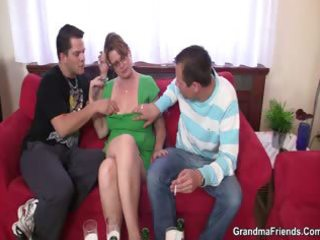 two guys have a fun fucking hot mama