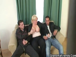 threesome fuckfest with granny