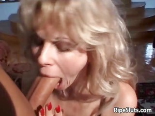 hot golden-haired skank sucks hard cock part4