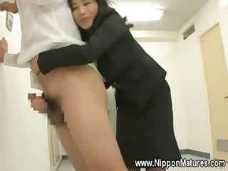 Asian teacher gives her student a rimjob