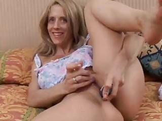 hawt milf fucks her moist cunt for you