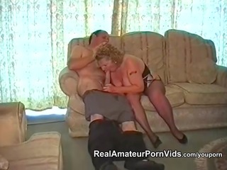 a chunky granny has sex with her husband