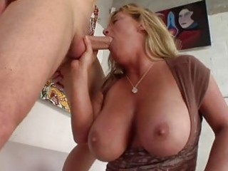 enormous chested tanned blond momma sucks