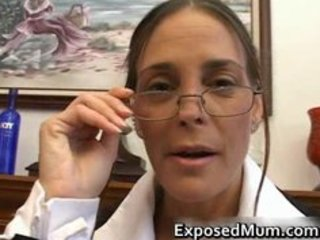 Hot milf in glasses deepthroating black part1