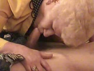 old blonde granny satisfies a chap