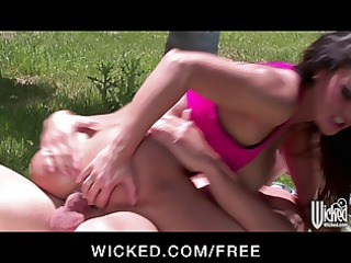 wicked - big-tit cougar rides her yoga