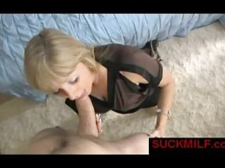 milf sucks large dick