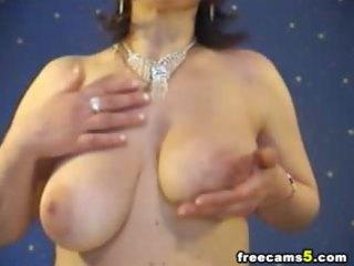 large tits milf masturbating web show
